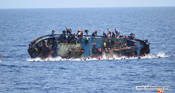 غرق مركبا يضم 20 مهاجرا قرب سواحل ليبيا