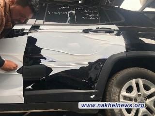 الكمارك تعيد سيارتين متضررة في منفذ سفوان الحدودي