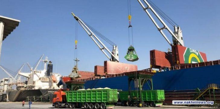 استقبال 5 بواخر تجارية بحمولات مختلفة رست على مينائي أم قصر الشمالي والجنوبي