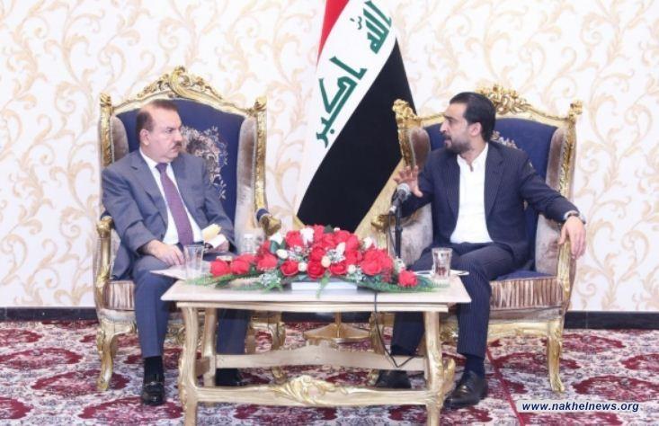 الحلبوسي يبحث مع وزير الداخلية الواقع الأمني في المدن المحررة