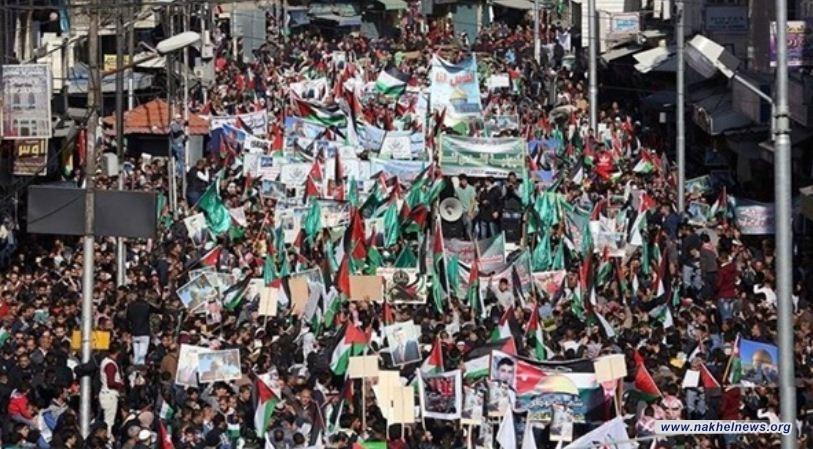 """مسيرات في دولة عربية ثانية ضد الخطة الأمريكية """"صفقة القرن"""""""