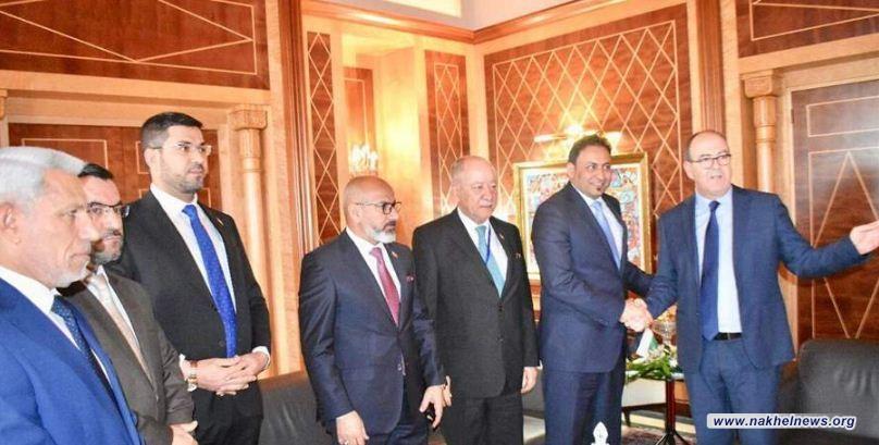 وفد العراق النيابي يلتقي بمجلس المستشارين المغربي ويتفقان على تبادل الخبرات التشريعية
