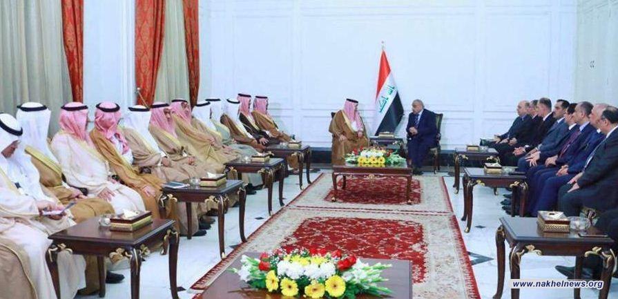 عبد المهدي يستقبل الوفد السعودي برئاسة القصبي