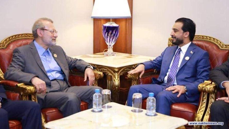 الحلبوسي ولاريجاني يبحثان تفعيل لجان الصداقة البرلمانية بين العراق وايران