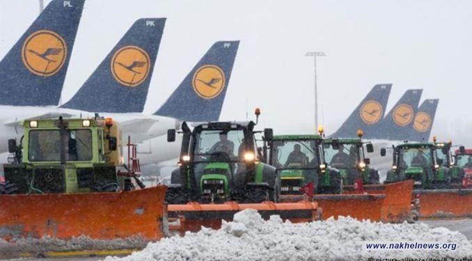 المانيا: إلغاء 120 رحلة في مطار ميونيخ بسبب سوء الأحوال الجوية