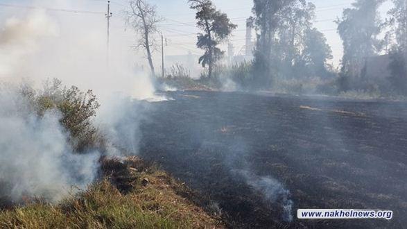 الدفاع المدني تعلن احصائية جديدة لحرائق المحاصيل الزراعية في بغداد والمحافظات