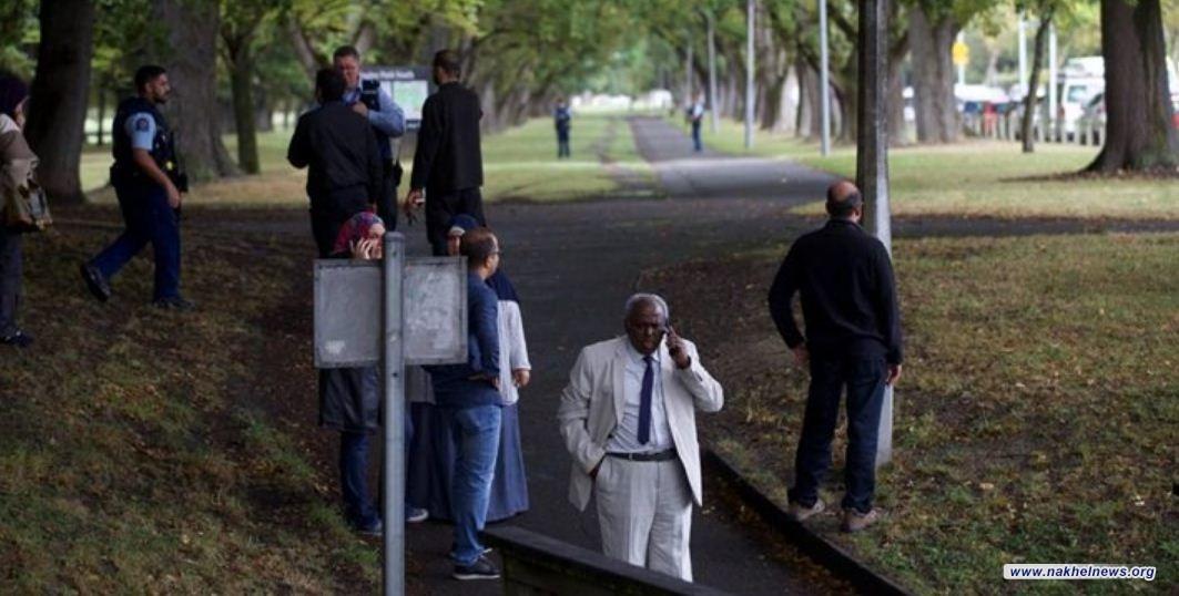 اعتقال اربعة اشخاص بعد إطلاق رصاص في مسجدين بنيوزيلندا
