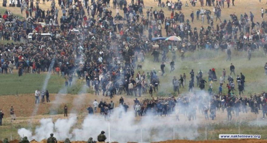 إصابة 7 فلسطينيين برصاص الاحتلال على حدود غزة