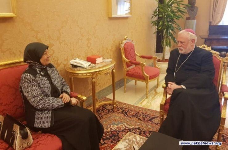 سفيرة العراق: زيارة البابا  تعطي رسالة دعم للعراقيين عامة والمسيحيين خاصة