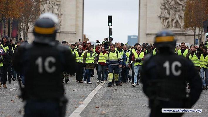 فرنسا تعلن أعداد المشاركين في احتجاجات السترات الصفراء
