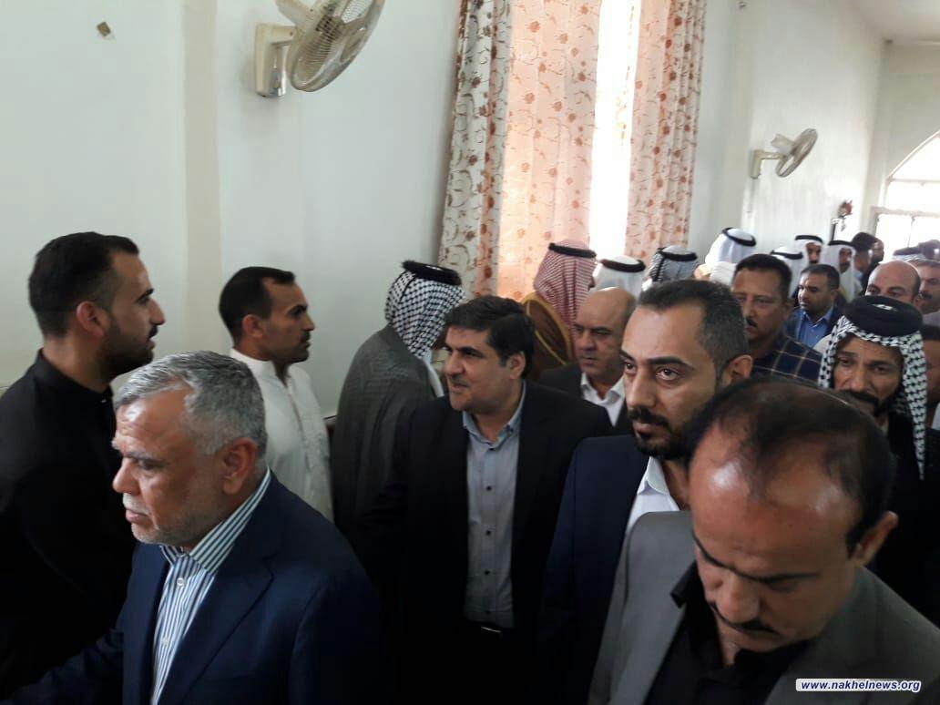 العامري والأنصاري يحضران مجلس عزاء الشهيدين عبد الرضا المطروحي ومحمد المطروحي