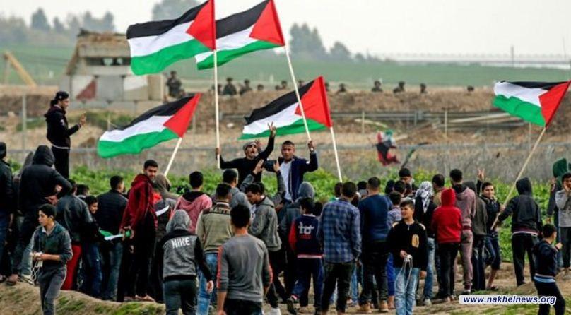 مسيرات العودة في يوم الجمعة في غزة ترفع شعار الأرض مش للبيع
