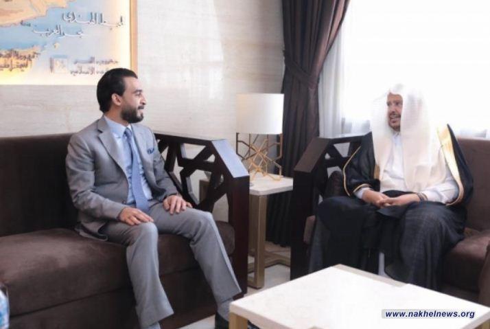 الحلبوسي يبحث مع رئيس مجلس الشورى السعودي العلاقات الثنائية بين البلدين