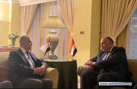 الحكيم وشكري يبحثان هاتفياً العلاقات الثنائيَّة بين العراق ومصر
