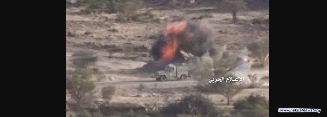 الجيش اليمني يعلن تدمير آليتين وجرافة سعودية في جيزان